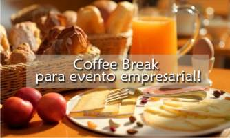 Coffee break para evento empresarial!
